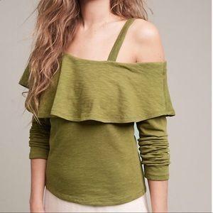 Anthropologie ruffle blouse